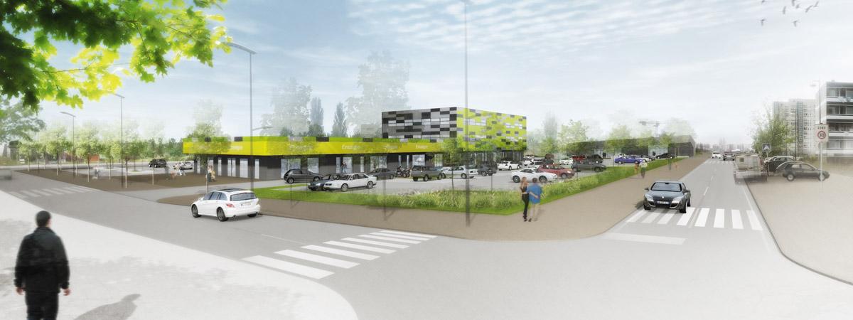 AME | architecture : Aménagement d'un site commercial à Metz