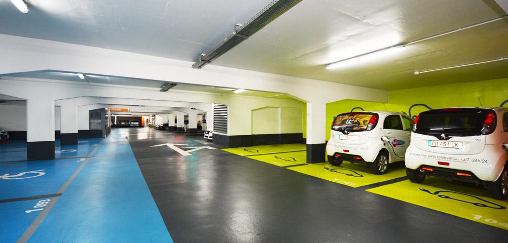 AME | architecture : Réaménagement de parkings Vinci Park
