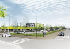 Aménagement site commercial à Metz