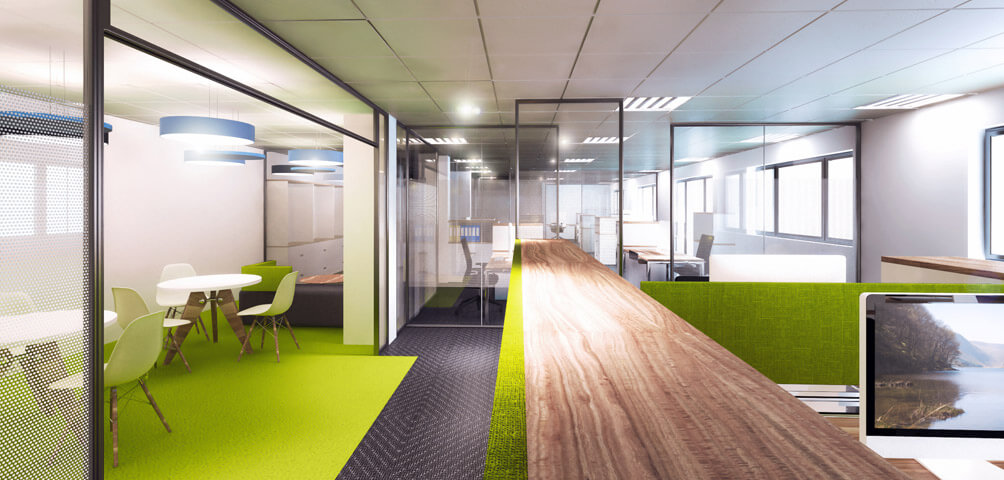 Ame architecture r am nagement d 39 un plateau de bureaux for Denis article de bureau