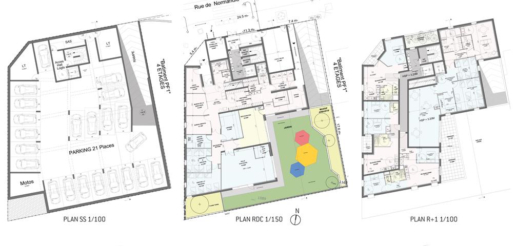 AME   architecture : Construction d'un ensemble de logements destinés à l'accession sociale à la propriété et d'une crèche à Clamart
