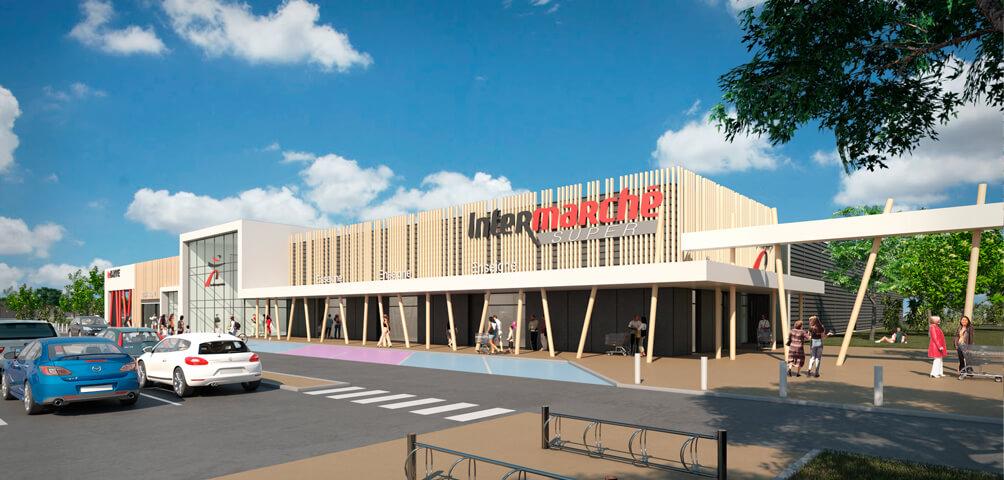 AME | architecture : Construction d'un hypermarché Mousquetaires