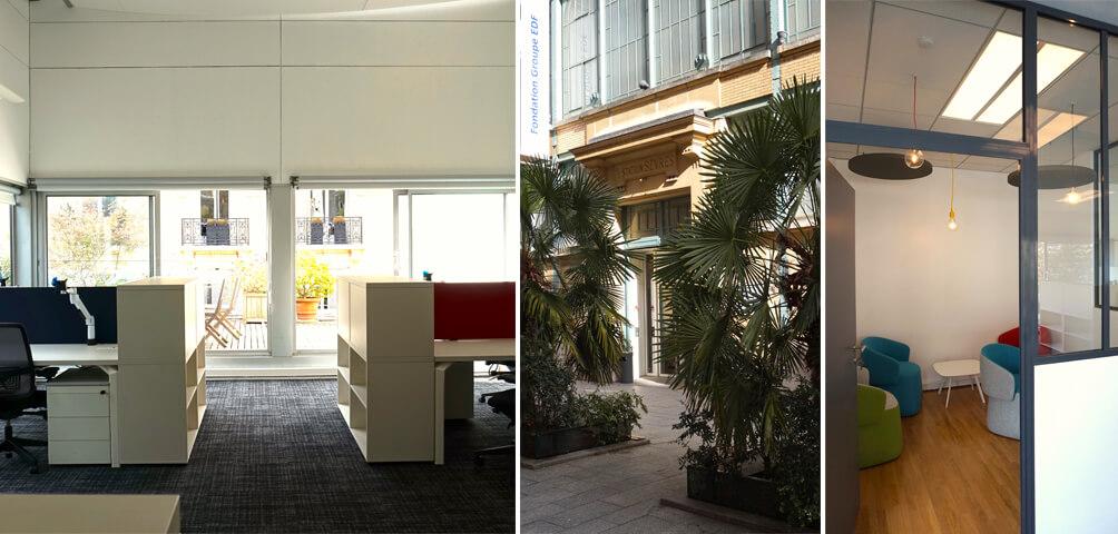 AME | architecture : Réaménagement de bureaux à la Fondation EDF