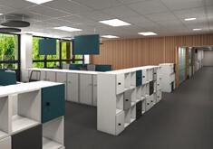 Rénovation d'un bâtiment à usage de bureaux